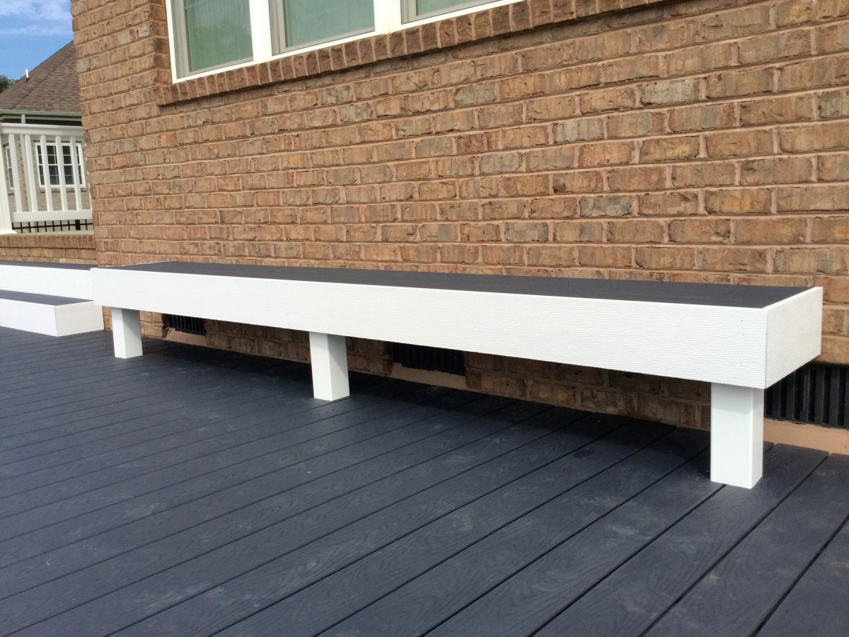 Custom Waterfall Deck with Trex Decking